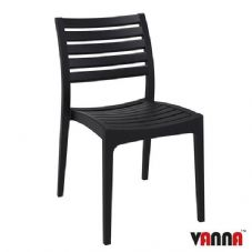 Vanna Real Side Chair - Black